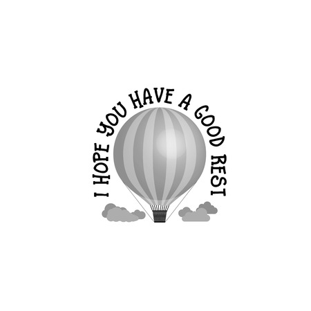 I hope you have a good rest. Banner, badge, for a blog or social networks, can be used as a print Çizim