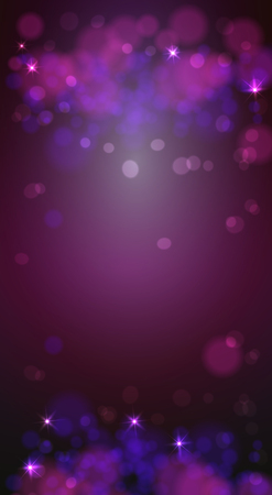 Christmas bokeh background defocus lights. Glowing techno abstract background.