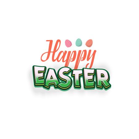 Happy Easter. Hand Drawing Vector Lettering design. Can be used for posters, postcards, prints on clothes.