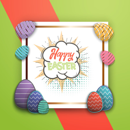 Spring - Easter is a beautiful badge, like a sticker for social networks. for your design