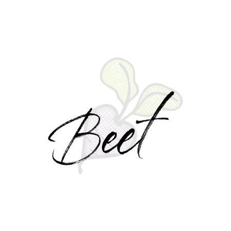 Beet word on background illustration. Fruit web element, Isolated Vector. Illusztráció