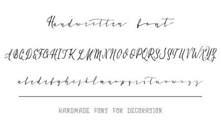 Calligraphic Vintage Handwritten vector Font for Lettering.Trendy Retro Calligraphy Script.