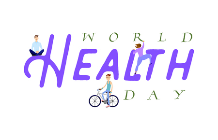 World Health day. Holiday poster - flat design. On a white background