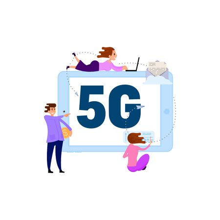 Communication of people by quick connection WiFi concept 5G