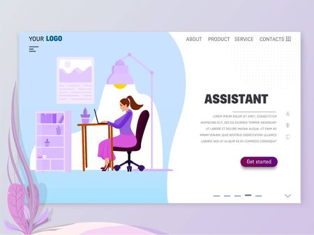 Landing Page Template - Assistant homepage