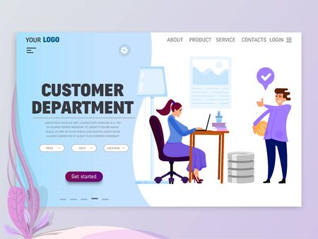 Landing Page Template - customer department homepage