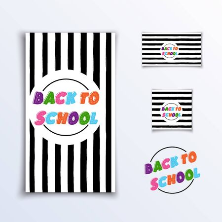 Back to school - vertical, horizontal and square banner concept.