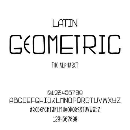 Latin alphabet for the design of posters, prints
