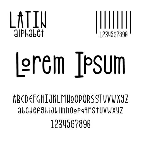Latin alphabet for the design of posters, prints Standard-Bild - 143338678