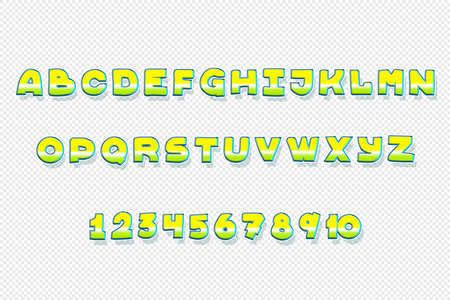 3d font low and high font for posters and typography