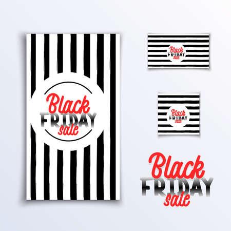 Black friday. Sale - Vertical, Horizontal Square Banner Standard-Bild - 155615646