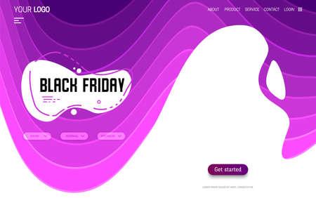 Black Friday - landing page and website background Çizim