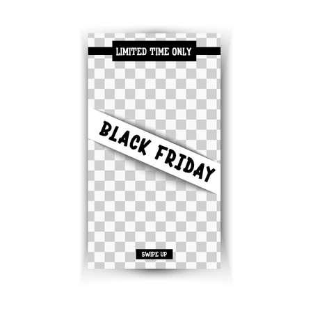 Black friday. Sale - Vertical Banner Çizim