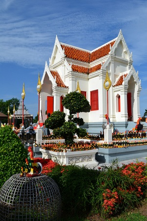 pics: Shrine of King Naresuan the Great .This shrine is very popular with locals.