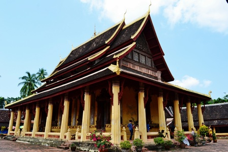 The ordination hall or Sim of  Wat Si Saket .Vientiane.Laos