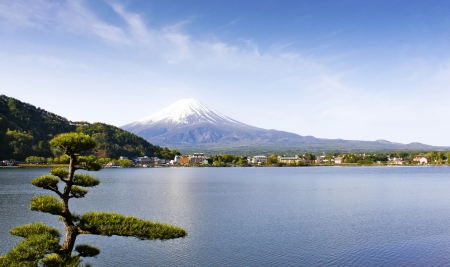 fuji san: Fuji San view from Kawaguchi lake Yamanashi Japan