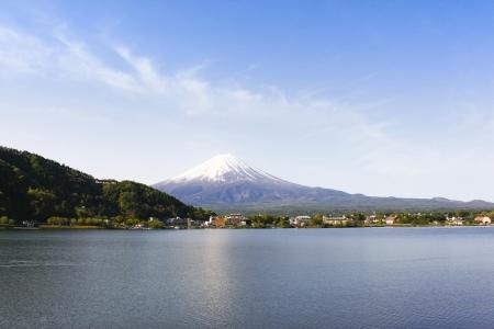 Fuji San view from Kawaguchi lake Yamanashi Japan   photo