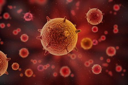 rendering: bacteria 3D rendering background Stock Photo