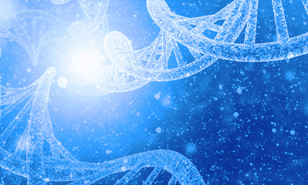 hospital background: DNA structure in colour background Stock Photo