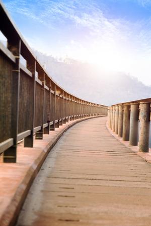 Walking beside the bridge
