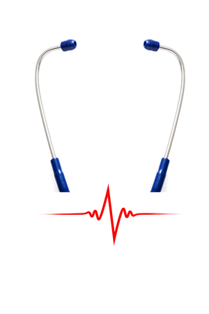 heart beat: Stethoscope with heart beat