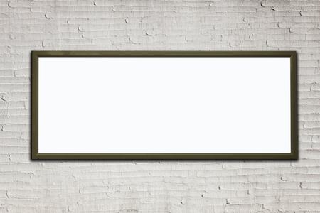 Blank advertising billboard on a street wall. 版權商用圖片