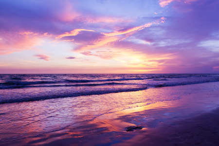 beach sunset 版權商用圖片