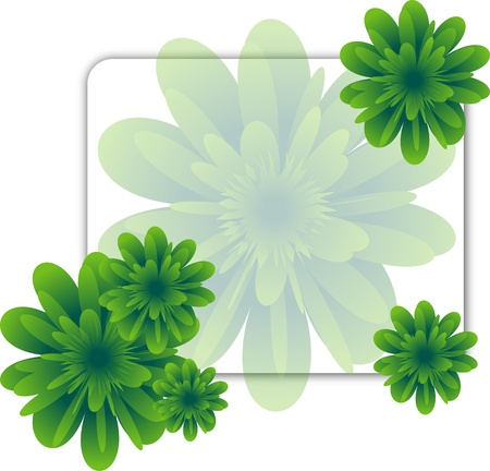 Green flower Illustration