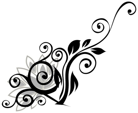 Black and white pattern Stock Vector - 16455940