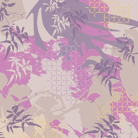 Scarf design with abstrct floral pattern