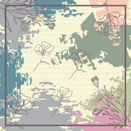 contemporary scarf with abstract floral pattern design Vecteurs
