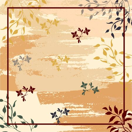 contemporary scarf with abstract floral pattern design Vector Illustration