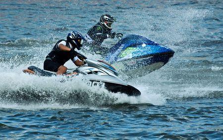 extreme jet-ski boat sport Stock Photo