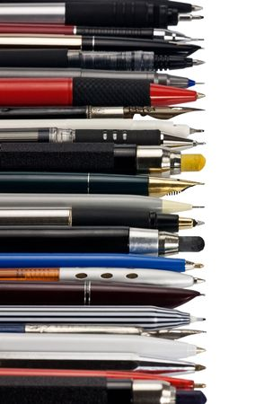 Panorama from various fountain pens, ball pens and pencils Stock Photo - 4839637