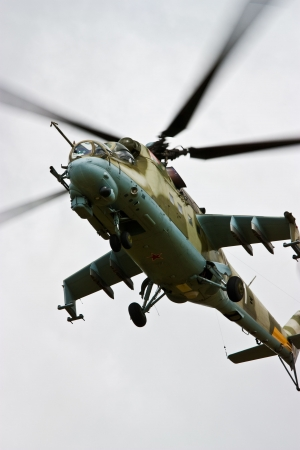 apache: Helicopter gunship conducting high altitude training operations