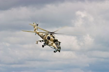 blackhawk helicopter: Helicopter gunship conducting high altitude training operations