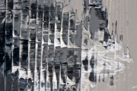 Fragment of an oil painting on canvas with layers of paint