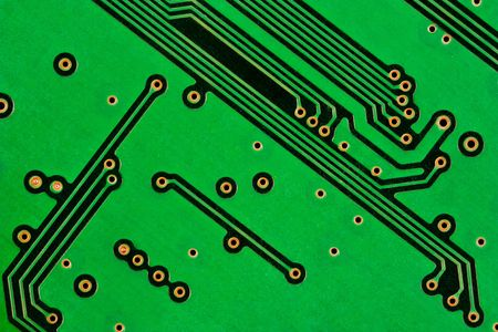 A closeup shot of the backside of a computer circuit board photo