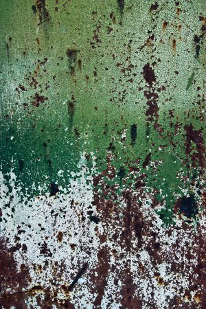 The old cracked paint on a wall surface