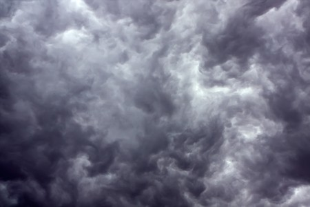 ominous: Overcast sky with rain clouds Stock Photo