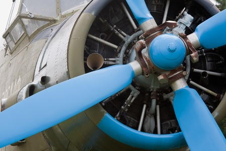 Close-up of airplane propeller Stock Photo