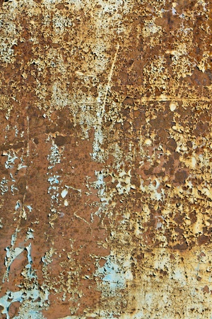 Abstract background texture of rusted old metal panel photo