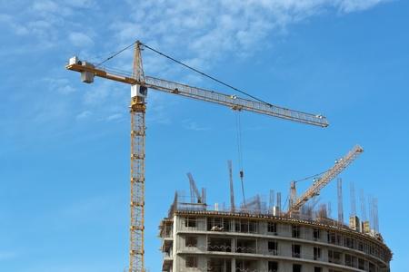 Construction site silhouette photo