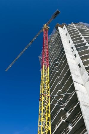 Construction site silhouette Stock Photo - 9987202