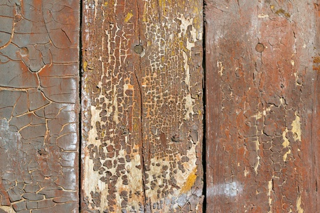 flaky: Close up of old colored wooden plank surface