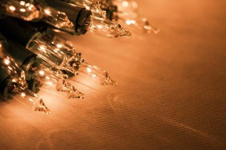 冬のクリスマスの休日ライト 写真素材