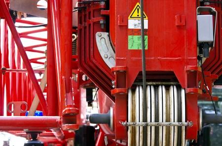 Fire truck ladder photo
