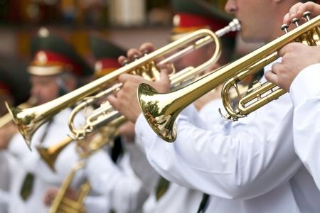 trompeta: Trompetistas Foto de archivo