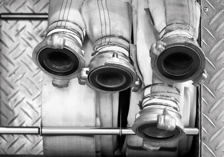 Hoses of fire truck photo
