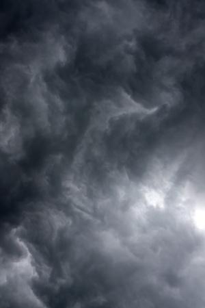 Overcast sky with rain clouds Stock Photo